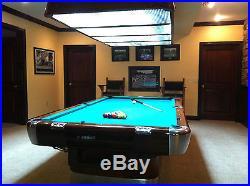 Vintage Brunswick 9' Anniversary Pool Table