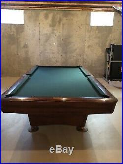 Vintage Brunswick 9 Gold Crown III Pool Table