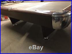 Vintage Brunswick Anniversay (SCHAAF) Pool Table Restored Mid Century Modern