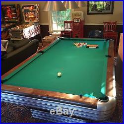 Vintage Brunswick Antique Centennial Pool Table