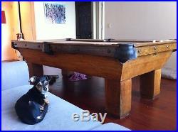 Vintage Brunswick Aviator Pool Table 1922-1924 built, Italian Slate & gulleys