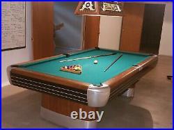 Vintage Brunswick Billiards Mid Century Modern 8 Anniversary Pool Table