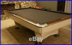 Vintage Brunswick Gold Crown 5x9 Slate Snooker Table