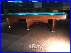 Vintage Brunswick Gold Crown 6 by 12 Snooker Table