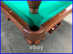 Vintage Brunswick Pfister Ball Return Circa 1896 9' Pool Table FULLY RESTORED