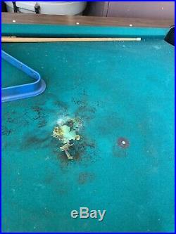 Vintage Brunswick Pool Table MCM Mid Mod 1960's Mad Men Slate