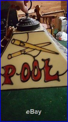 Vintage Pool Table Light