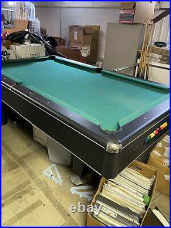 Vintage Pool Table Size 78 X 4 Pool Table Balls And Cues