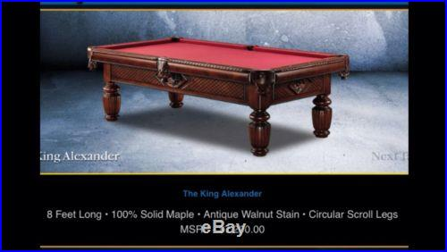 Vintage The King Alexander Pool Table + luxury table top