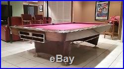 Vintage brunswick gold crown 9x4 pool table