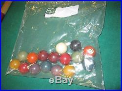 Vtg rare 1930's Burrowes folding Wood Mini Pool Table w balls stick model 454