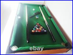 Wood Mini Tabletop Pool Family Game Wooden Billiards Table Set With Legs 76x42cm